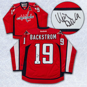 Nicklas Backstrom Washington Capitals Autpgraphed Reebok Premier Jersey