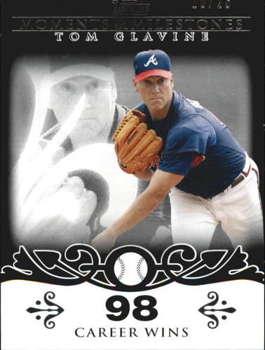 Photo of 2008 Topps Moments and Milestones Black #137-98 Tom Glavine