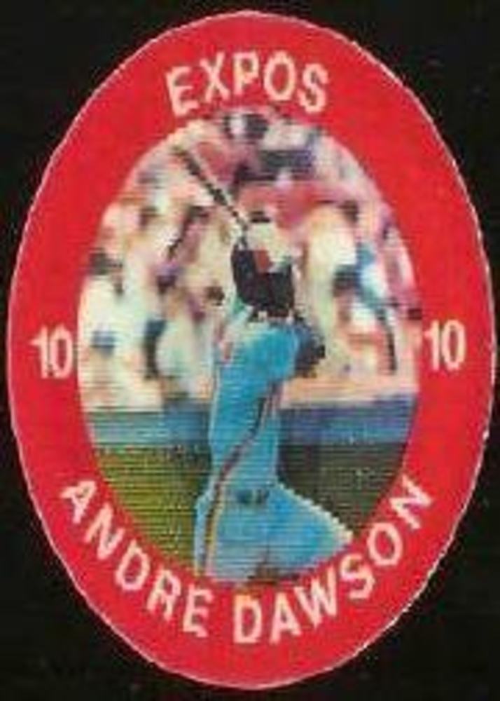 1984 Seven-Eleven Coins #E1 Andre Dawson