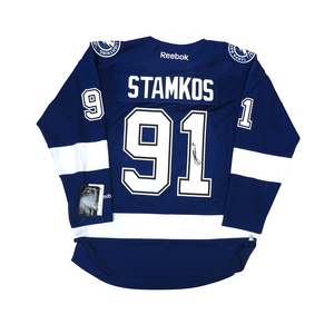 Steven Stamkos #91 PLAYER KITZ Signature Series Premier Replica Stitched Signature Tampa Bay Lightning Home Jersey