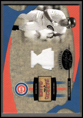 Photo of 2005 Leaf Certified Materials Fabric of the Game Reward #110 Ryne Sandberg Jsy/50