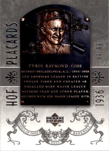 Photo of 2005 Upper Deck Hall of Fame Silver #99 Ty Cobb PC