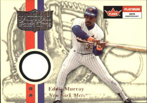 Photo of 2001 Fleer Platinum National Patch Time #37 Eddie Murray S1
