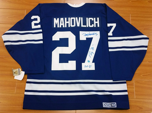 Frank Mahovlich Toronto Maple Leafs Signed 1967 Stanley Cup Retro CCM Jersey w/ Big M & HOF 81 notes