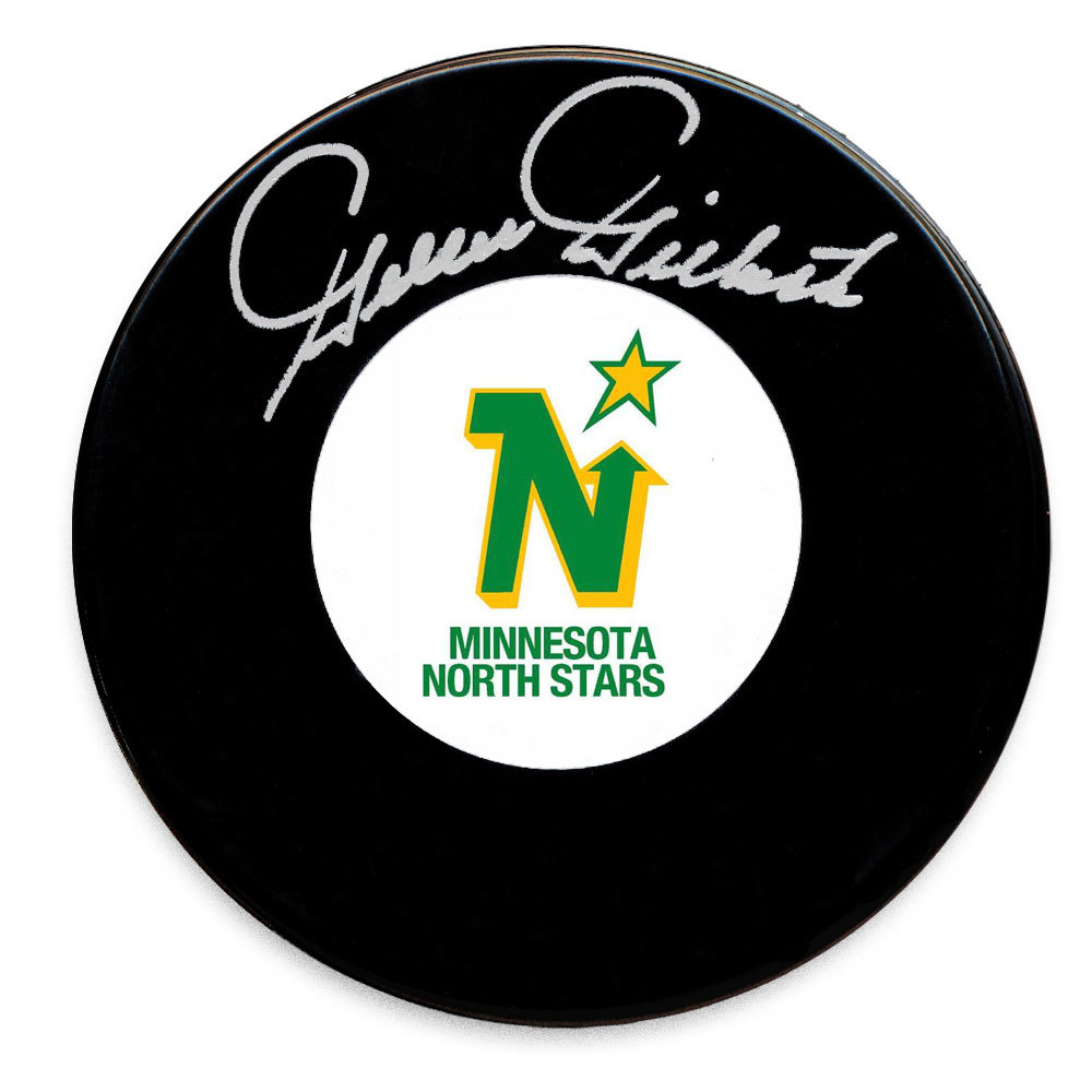 Gilles Gilbert Minnesota North Stars Autographed Puck