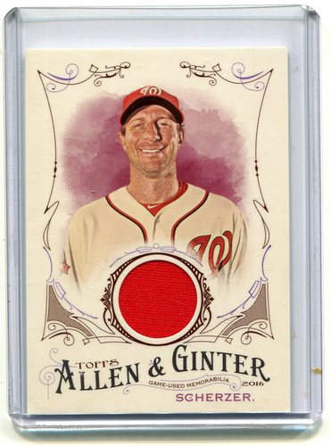 Photo of 2016 Topps Allen and Ginter Relics jersey Max Scherzer
