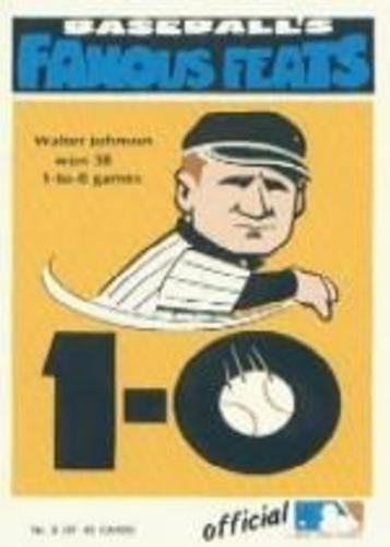 Photo of 1972 Fleer Famous Feats #8 Walter Johnson