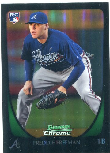 Photo of 2011 Bowman Chrome Refractors #185 Freddie Freeman