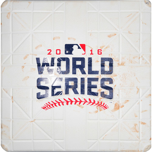 Photo of 2016 World Series Game 7: Game-used 3rd Base, Used during 7th and 8th Innings (On Field for Rajai Davis Game Tying HR)