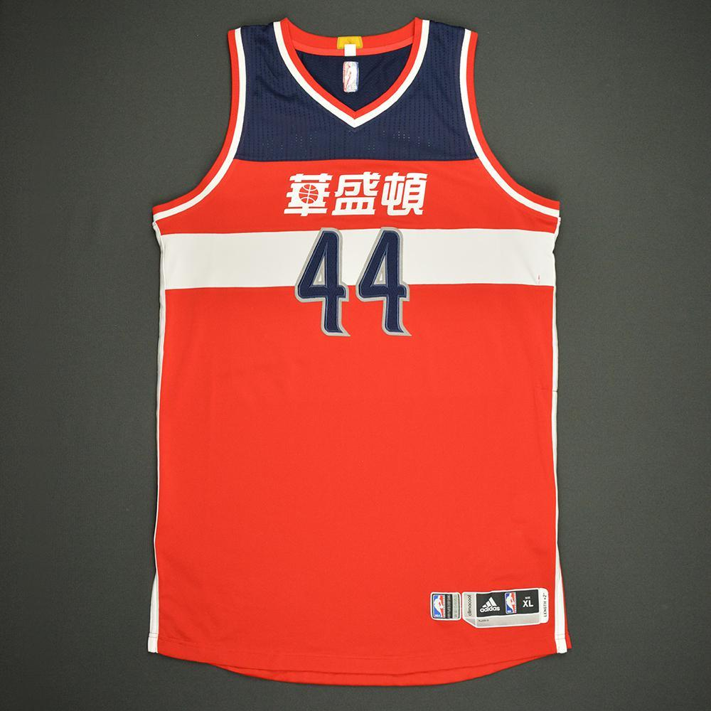 Andrew Nicholson - Washington Wizards - Game-Worn Red Chinese New Year Jersey - Dressed, Did Not Play - 2016-17 Season