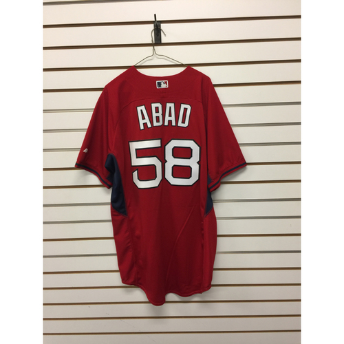 Fernando Abad Team-Issued Home Batting Practice Jersey