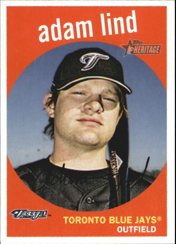 Photo of 2008 Topps Heritage #178 Adam Lind -- Nationals post-season