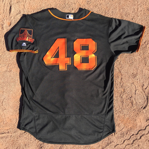 Photo of San Francisco Giants - Game-Used Jersey - Pablo Sandoval - Worn on 8/5/17 for his 1st game back with the Giants - (also worn 8/7 and 8/19)
