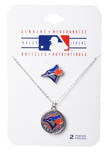 Toronto Blue Jays Lapel Pin Necklace Set by Gertex