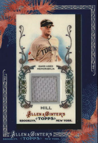 Photo of 2011 Topps Allen and Ginter Relics #AH Aaron Hill