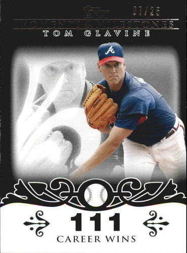 Photo of 2008 Topps Moments and Milestones Black #137-111 Tom Glavine