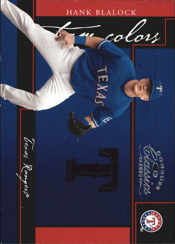 Photo of 2005 Donruss Classics Team Colors #15 Hank Blalock