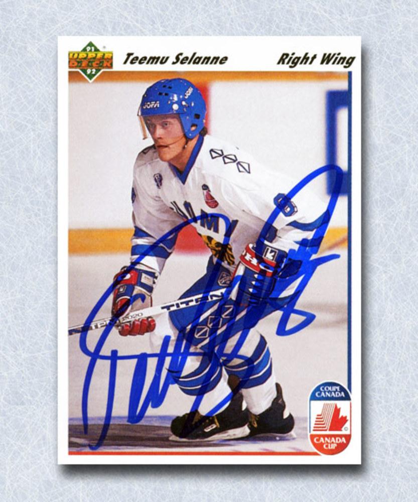 Teemu Selanne Autographed 1991 Upper Deck Rookie Card