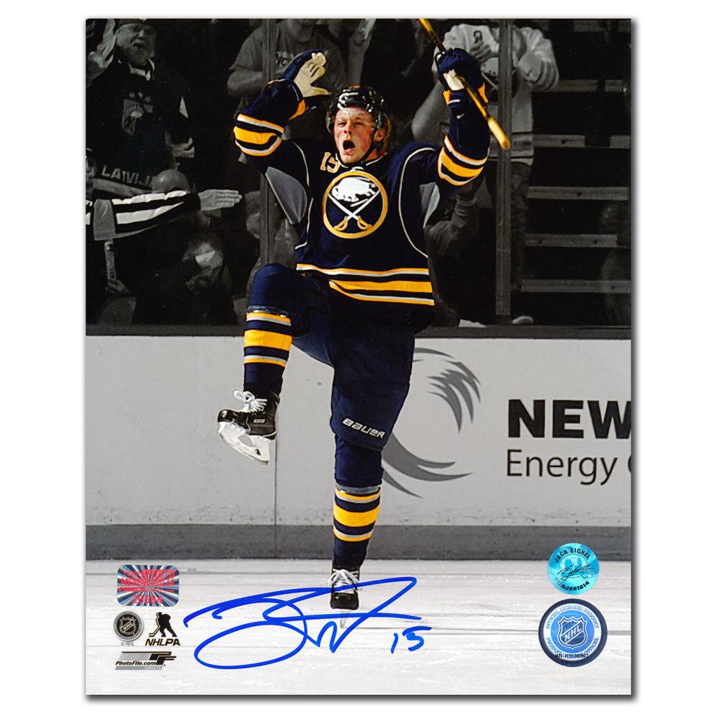 Jack Eichel Buffalo Sabres CELEBRATION Autographed 8x10