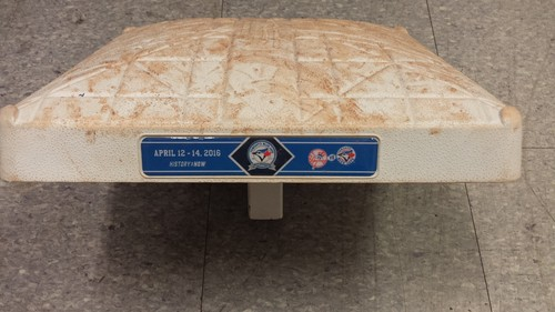 Photo of Authenticated Game Used Base from April 12th & 13th 2016 vs. New York Yankees