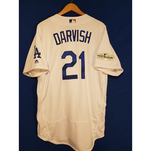 Photo of Yu Darvish Home 2017 Team-Issued Post Season Jersey