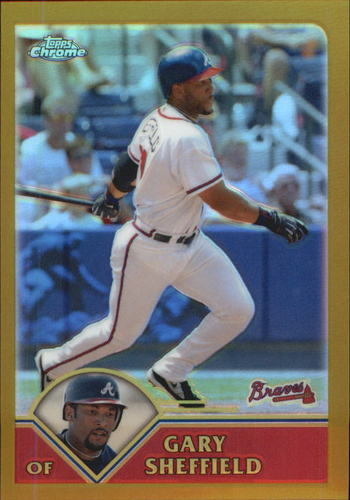Photo of 2003 Topps Chrome Gold Refractors #142 Gary Sheffield