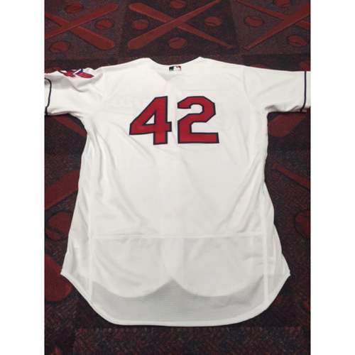 Photo of Francisco Lindor Game-Worn 2016 #42 Jersey (1st of Career)
