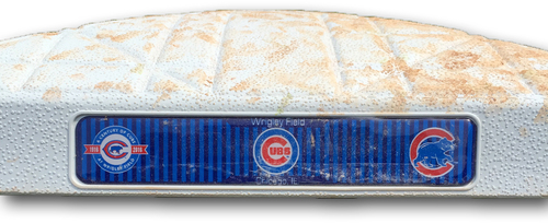 Photo of Game-Used Base -- Used During Chicago Cubs World Champion 2016 Regular Season