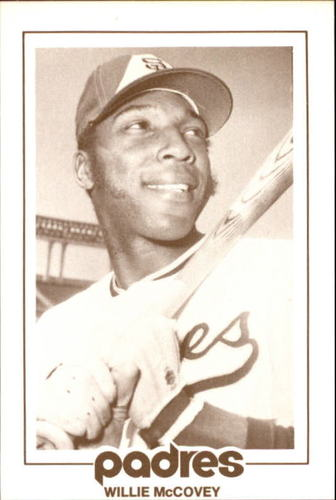 Photo of 1977 Padres Schedule Cards #37 Willie McCovey