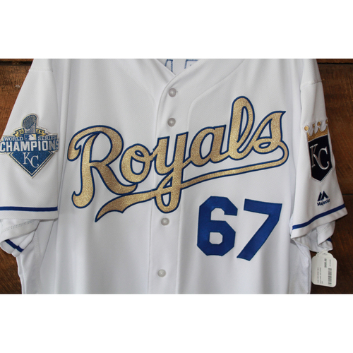 Photo of Chien-Ming Wang Game-Used Jersey: July 8, 2016 SEA at KC (Size 50)
