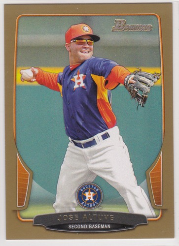 Photo of 2013 Bowman Gold #108 Jose Altuve  -- Astros post-season