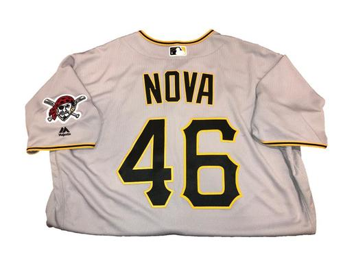 Photo of Ivan Nova Team-Issued Road Gray Jersey