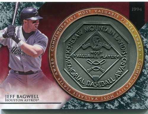 Photo of 2017 Topps Update MVP Award Relics #MVPRJBA Jeff Bagwell