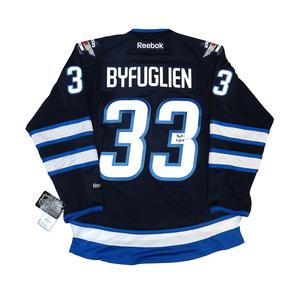 Dustin Byfuglien #33 PLAYER KITZ Signature Series Premier Replica Stitched Signature Winnipeg Jets Home Jersey