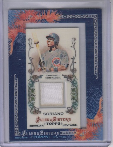 Photo of 2011 Topps Allen and Ginter Relics #AS Alfonso Soriano