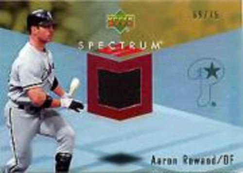 Photo of 2007 Upper Deck Spectrum Swatches Gold #AR Aaron Rowand