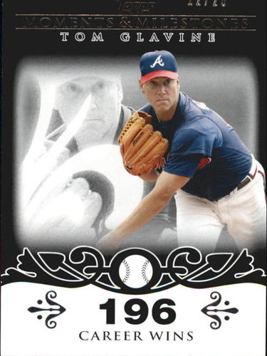 Photo of 2008 Topps Moments and Milestones Black #137-196 Tom Glavine