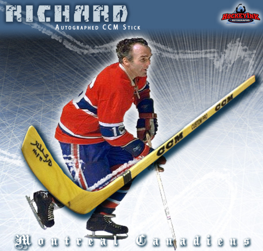 HENRI RICHARD Signed CCM Stick - Montreal Canadiens