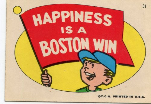 Photo of 1967 Red Sox Stickers Topps #31 Happiness is a/Boston Win