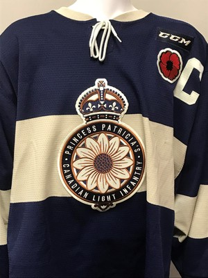 SAM STEEL 2018 MASTERCARD MEMORIAL CUP GAME WORN THEME JERSEY