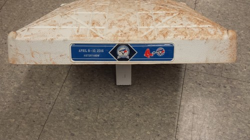 Photo of Authenticated Game Used 2nd Base April 9th vs. Boston Red Sox - innings 4-6