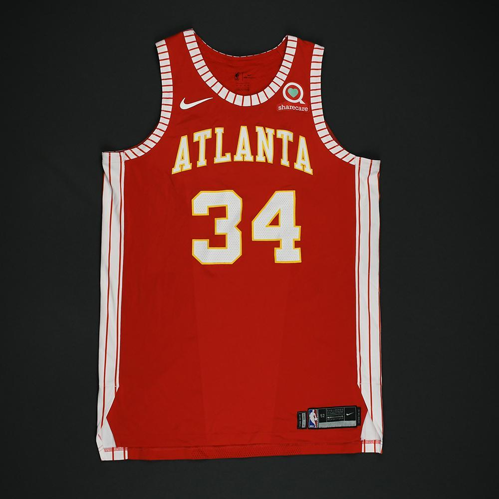 Tyler Cavanaugh - Atlanta Hawks - Game-Issued Classic Edition 1970-72 Road Style Jersey - 2017-18 Season
