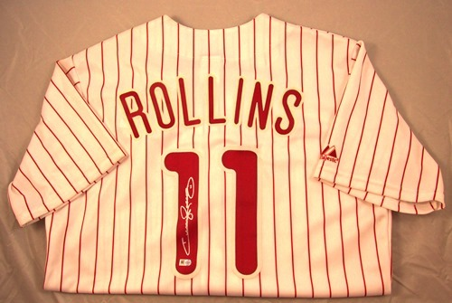 Photo of Jimmy Rollins Autographed Philadelphia Phillies Jersey