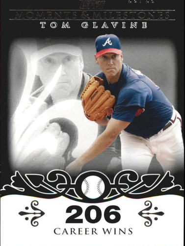 Photo of 2008 Topps Moments and Milestones Black #137-206 Tom Glavine