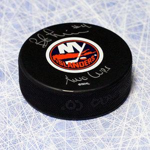Bob Lorimer New York Islanders Autographed Hockey Puck