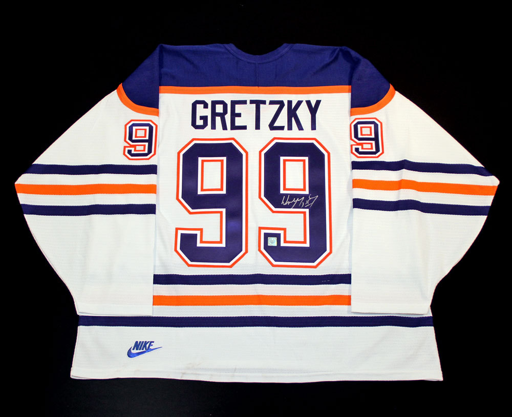 Wayne Gretzky #99 - Autographed Edmonton Oilers Vintage White Nike Replica Hockey Jersey