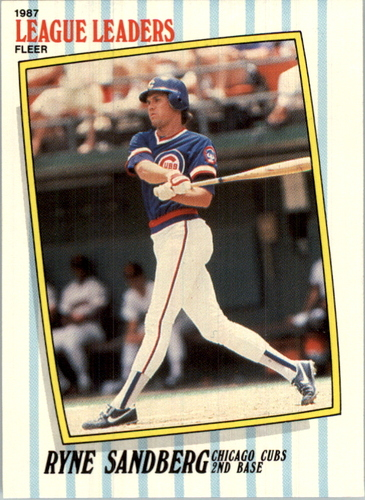 Photo of 1987 Fleer League Leaders #39 Ryne Sandberg