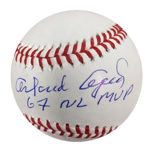 Cardinals Authentics: Orlando Cepeda 67 NL MVP Inscribed Autographed Baseball