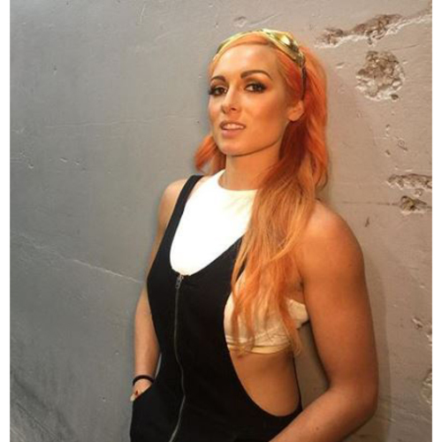 Photo of Becky Lynch WORN & SIGNED Goggles (Mae Young Classic Red Carpet - 09/12/17)