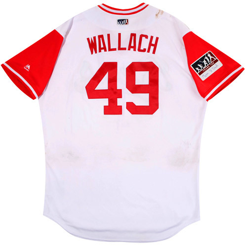 """Photo of Chad """"Wallach"""" Wallach Cincinnati Reds Game-Used Players Weekend Jersey"""